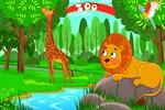 Иллюстрация фон и пересонажи для детской игры