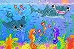 Подводный мир: фон и пересонажи для детской игры