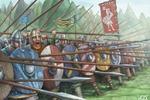 Иллюстрация Саксы (стена щитов)