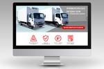 Лендинг для официального дистрибьютора грузовиков Isuzu