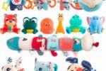 Ретушь коллекции игрушек для новорожденных
