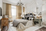 Дизайн-проект квартиры в Москве 104 кв. м. (мастер-спальня)