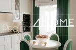 Дизайн-проект квартиры в Москве 104 кв. м. (кухня)
