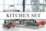 Кухонный сет для рекламы