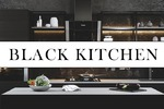 Чёрный интерьер кухни