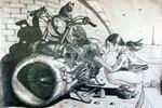 Девушка и аэроцикл