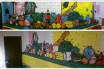 Реализация дизайна кухни (офиса)+роспись на стене