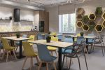 Кухня-столовая в офисе СМС центра