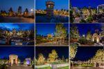 Фотосъёмка архитектурной подсветки. Парк Ангелов. Кемерово