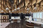 Дизайн зоны ожидания гостиницы с 3D-потолком