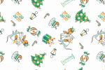 Новогодний паттерн для упаковочной бумаги