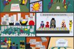 Стилизованный комикс для бизнес-презентации