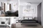 3D-визуализация дома со вторым светом (кухня-гостиная)