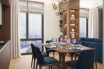 Дизайн кухни-гостиной Лофт, ЖК Пресня Сити