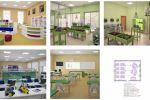 Эскизы оформления классов экспериментальной школы