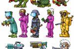 персонажи платформера и пушки