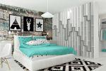 Дизайн спальни для молодой пары (ракурс на спальное место)