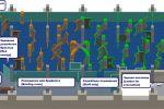 макет лабиринта лазертаг-арены