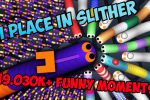 19.030K+ Funny Moments   1 Place in Slither.io