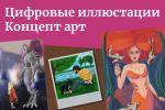 Иллюстрации, отрисовка персонажей