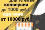 Конверсии до 1000 руб при чеке от 10000 руб - Яндекс Директ для