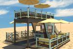 Строения на пляже