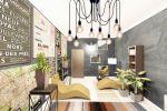 Дизайн комнаты отдыха в офисе с элементами лофта