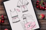 Иллюстрации для сайта продающего белье и одежду для девушек