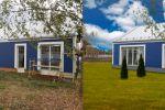 замена газона и неба + чистка и доделка дома