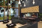 Дизайн зала-столовой в загородном доме