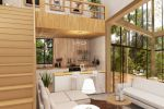Дизайн кухни-гостиной в эко-стиле