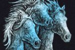 Лошади (цифровая живопись)