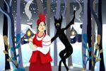 Иллюстрация к книге сказок «Ночь перед Рождеством»