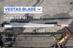 Transportation of wind blades, Barrus, July 2020, video