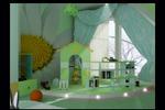 Дизайн детской комнаты в мансардном этаже загородного дома