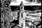 Церковь Линогравюра