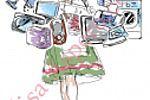 Баварская красавица - иллюстрация для магазина бытовой техники