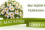 Шапка для цветочного сайта