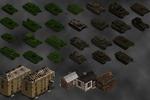 Моделирование танков и зданий для игры