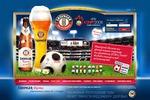 Erdinger промо-сайт пива к Кубку Европы по футболу