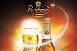 Radeberger промо по фирменному стилю всей рекламной продукции