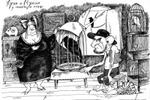 Хугин и Мунин у продавцов птиц.