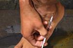 Социальный плакат против наркотиков