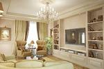 Дизайн и визуализация гостиной в классическом стиле