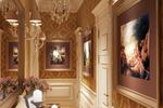 Дизайн и визуализация коридора в классическом стиле