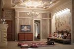 Дизайн и визуализация комнаты отдыха в мараканском стиле