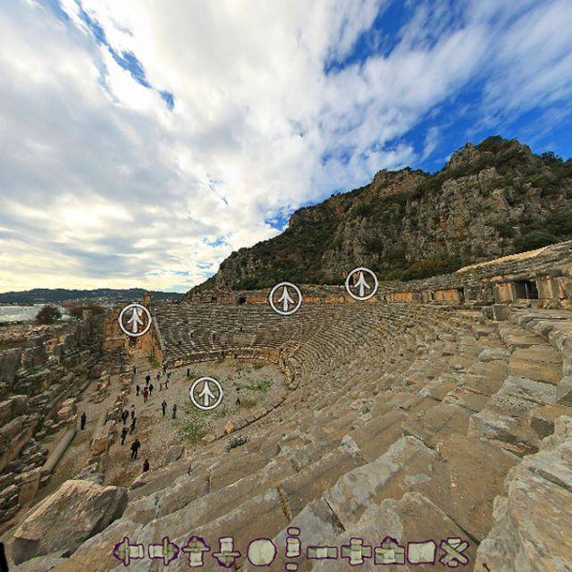 Виртуальный тур по древнему городу Мире и ликийским гробницам в