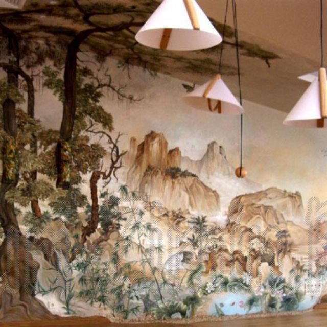 Роспись стен в китайском стиле