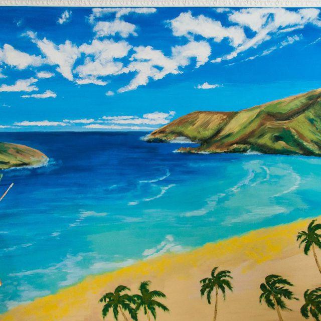 """рисунок """"Гаваии"""" на стене  3х2.5 м"""