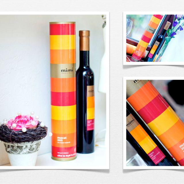 Этикетка и упаковка (тубус) для вина премиум класса mimi